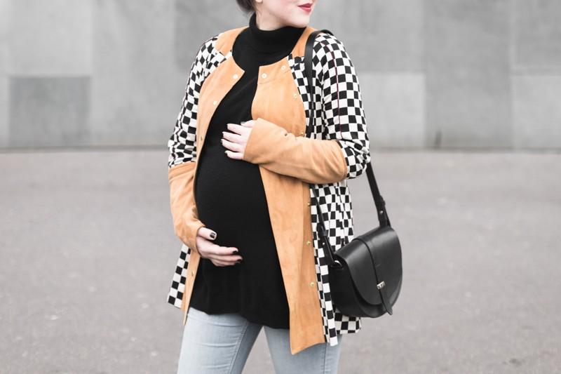 look femme enceinte blogueuse heimstone veste charleston sezane claude - copyright Pauline paulinefashionblog.com-6