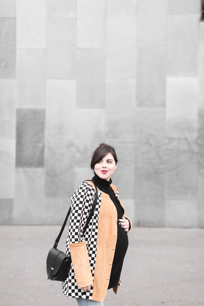 look femme enceinte blogueuse heimstone veste charleston sezane claude - copyright Pauline paulinefashionblog.com-7