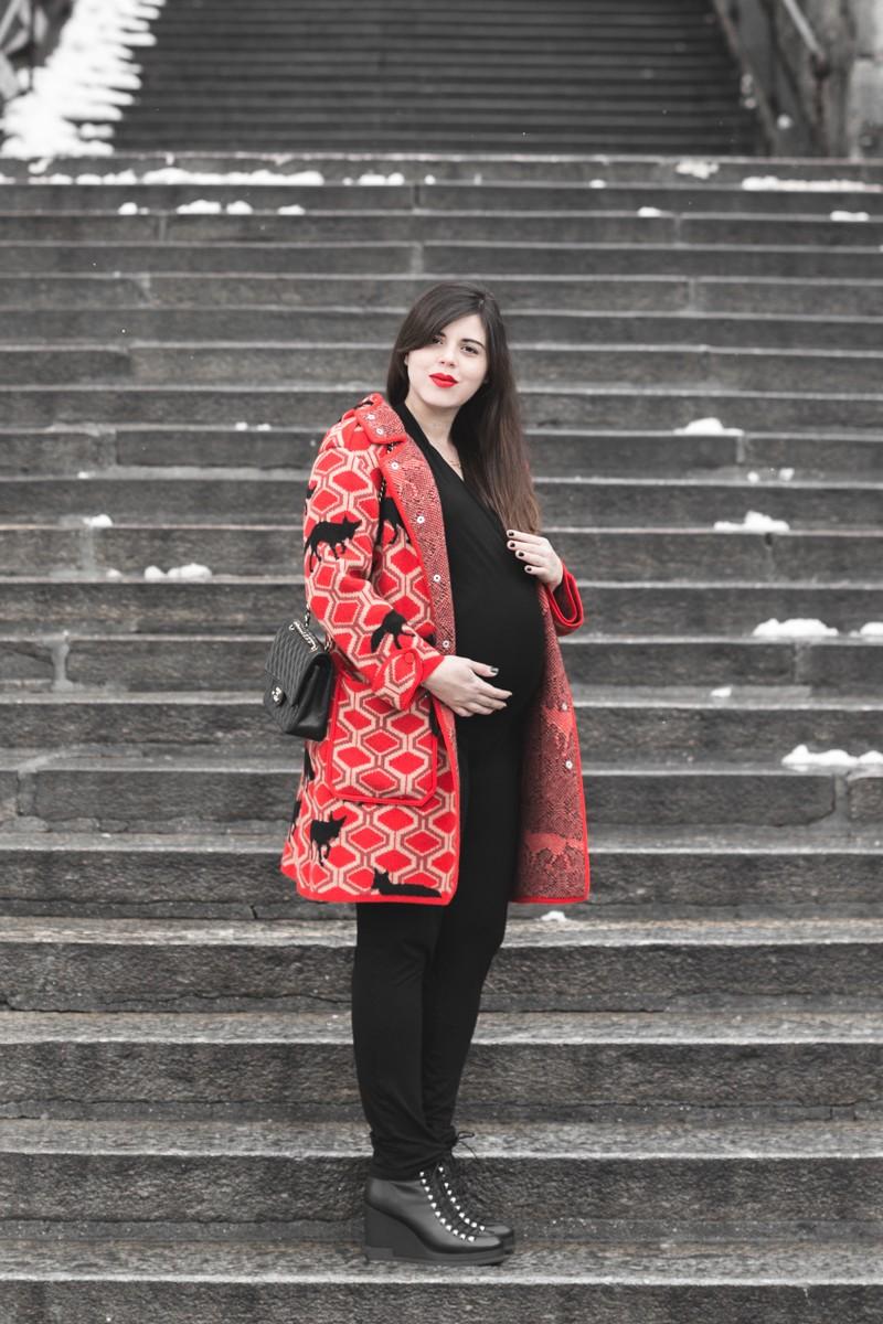 look grossesse envie de fraise manteau m missoni missta shoes - copyright Pauline paulinefashionblog.com-3