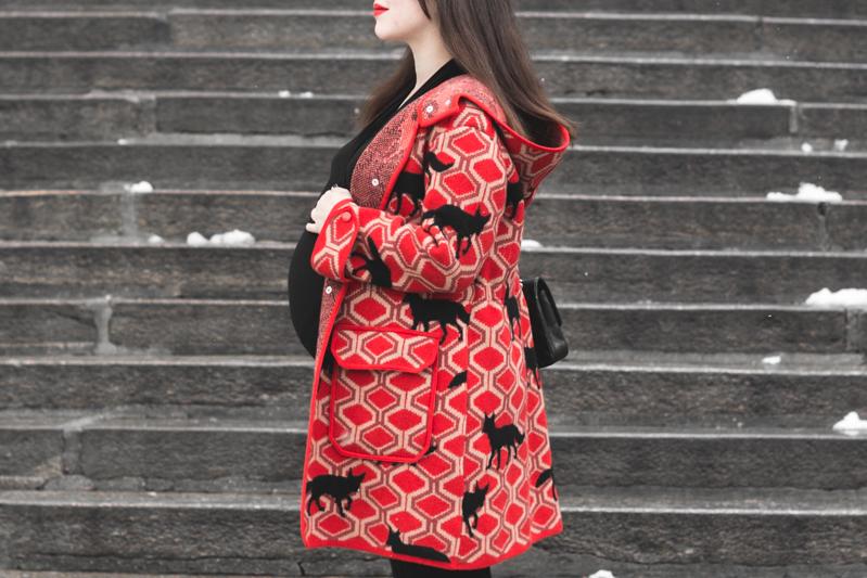 look grossesse envie de fraise manteau m missoni missta shoes - copyright Pauline paulinefashionblog.com-5