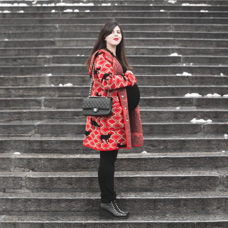 look grossesse envie de fraise manteau m missoni missta shoes - copyright Pauline paulinefashionblog.com-6