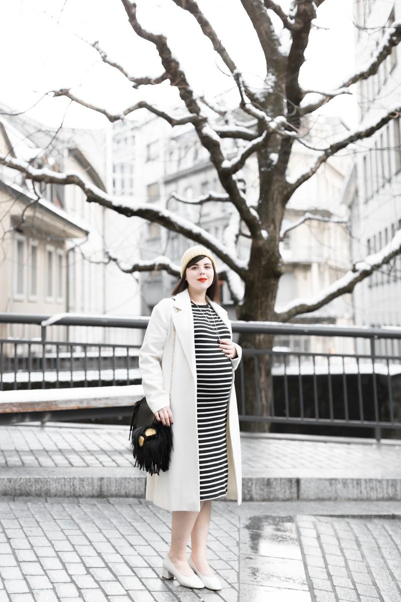look grossesse robe mariniere fendi bug mode femme enceinte - copyright Pauline paulinefashionblog.com-3