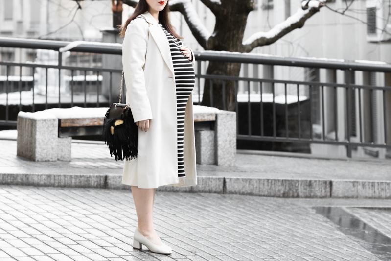 look grossesse robe mariniere fendi bug mode femme enceinte - copyright Pauline paulinefashionblog.com-5