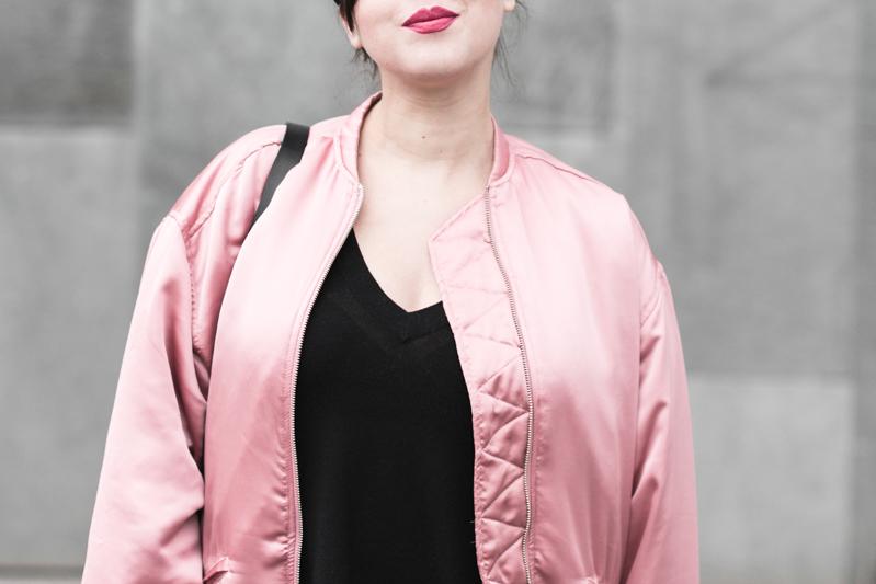 la vie en rose pink satin bomber mango eyes iphone case chiara ferragni sac claude sezane jonak make my lemonade - copyright Pauline paulinefashionblog.com-8