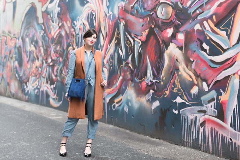 look m de maje combipantalon jean sezane - copyright Pauline paulinefashionblog.com-4