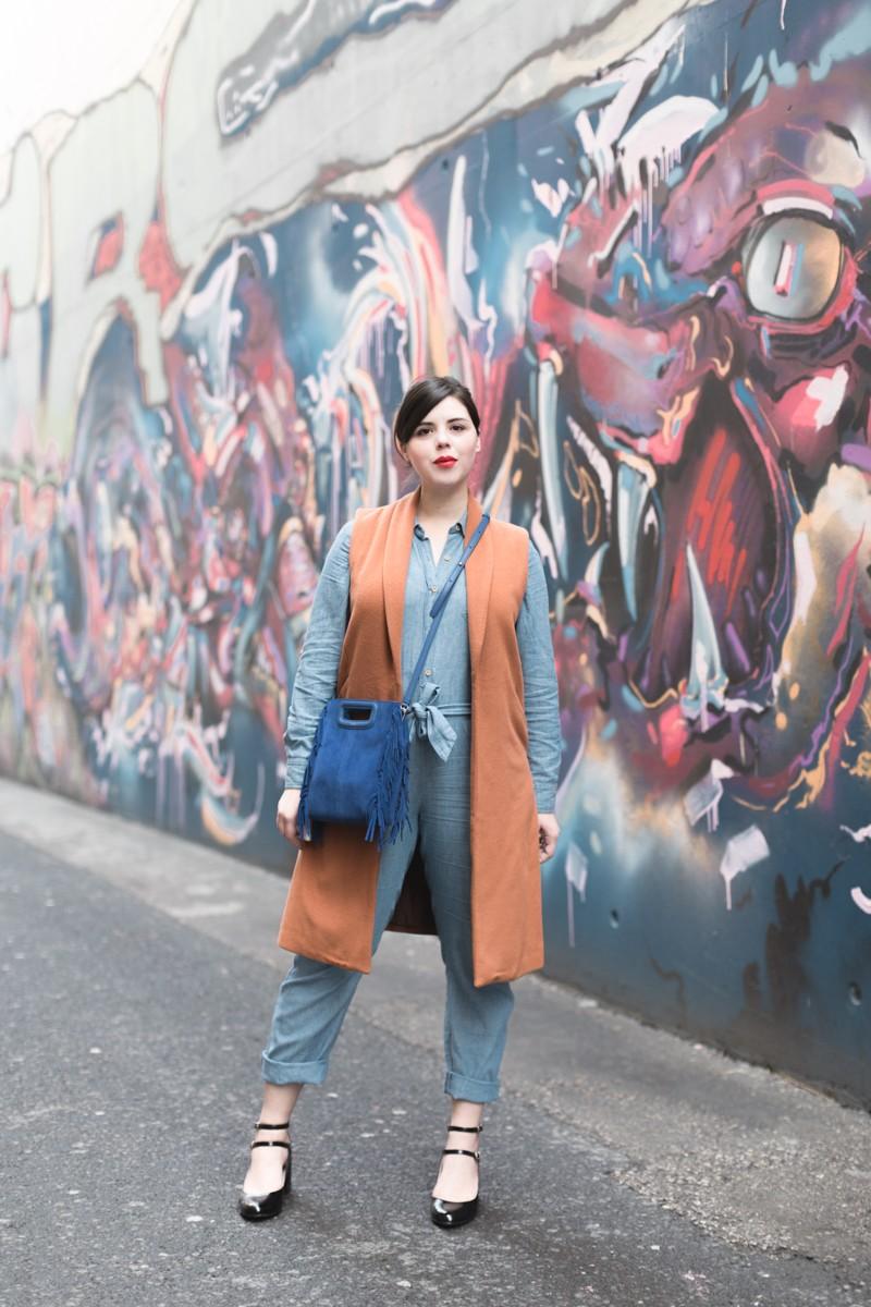 look m de maje combipantalon jean sezane - copyright Pauline paulinefashionblog.com-5