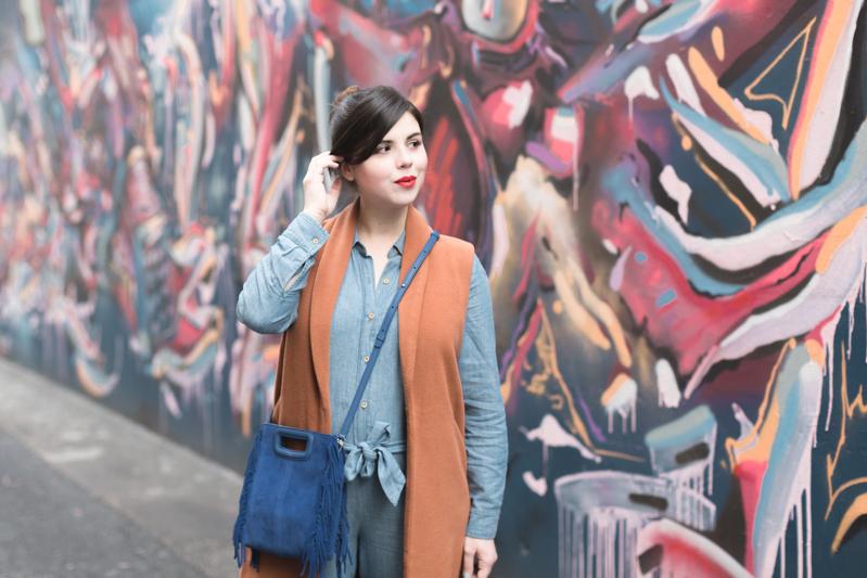 look m de maje combipantalon jean sezane - copyright Pauline paulinefashionblog.com-7