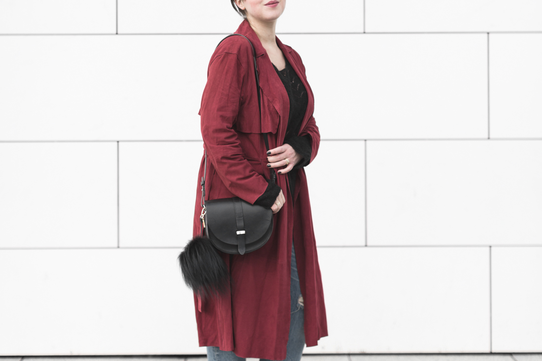 trench daim mango suede trench coat copyright Pauline paulinefashionblog.com 6 Trench Coat