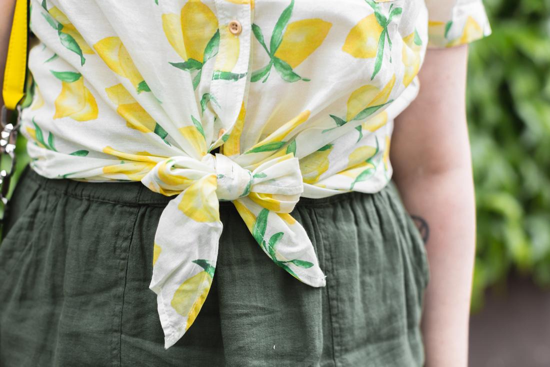 1100 chemise espadrilles imprime citrons sezane copyright Pauline paulinefashionblog.com 1 Citrons