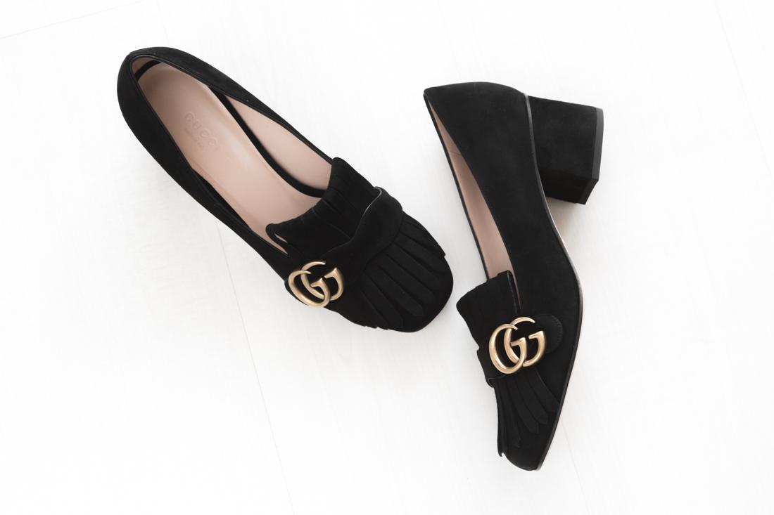 inventaire 4 gucci shoes marmont black - copyright Pauline paulinefashionblog.com-1
