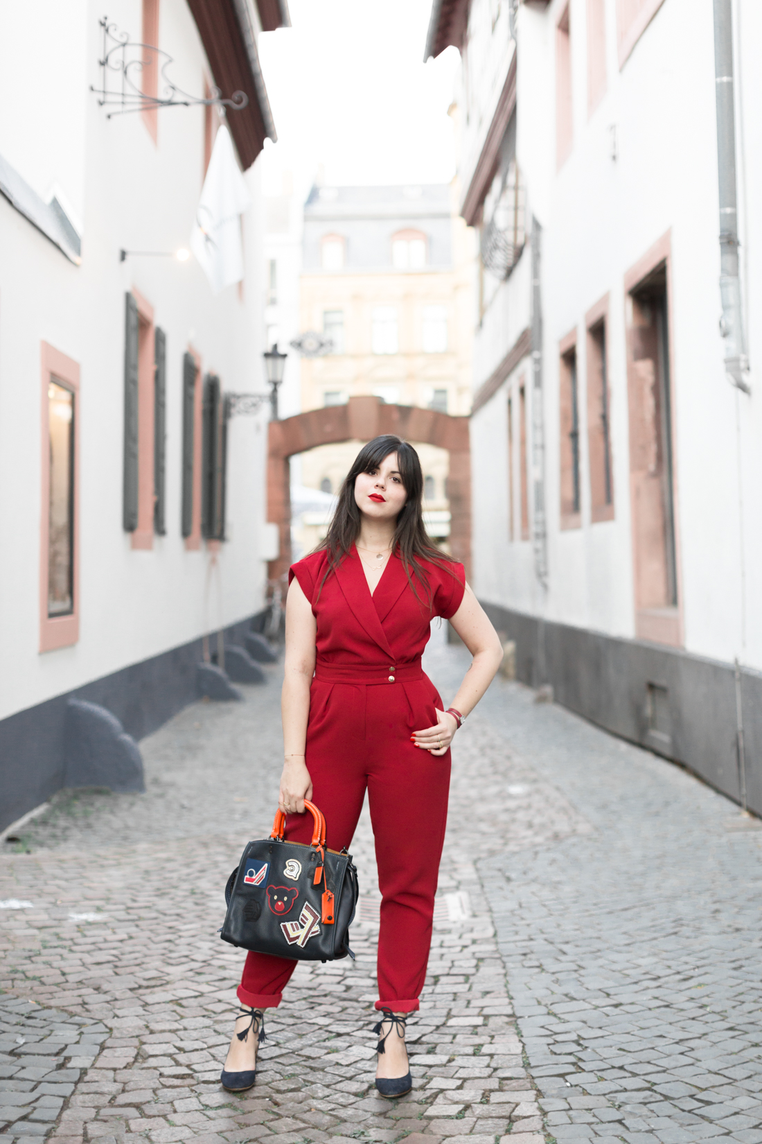 varsity-rogue-bag-coach-new-york-red-jumpsuit-valentina-sezane-marine-copyright-pauline-paulinefashionblog-com-2