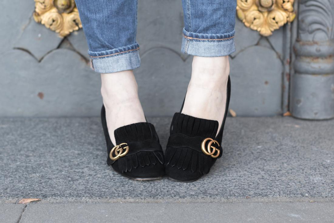 veste brando sezane denim 1958 mum jeans copyright paulinefashionblog com 11 Blue Black Gold