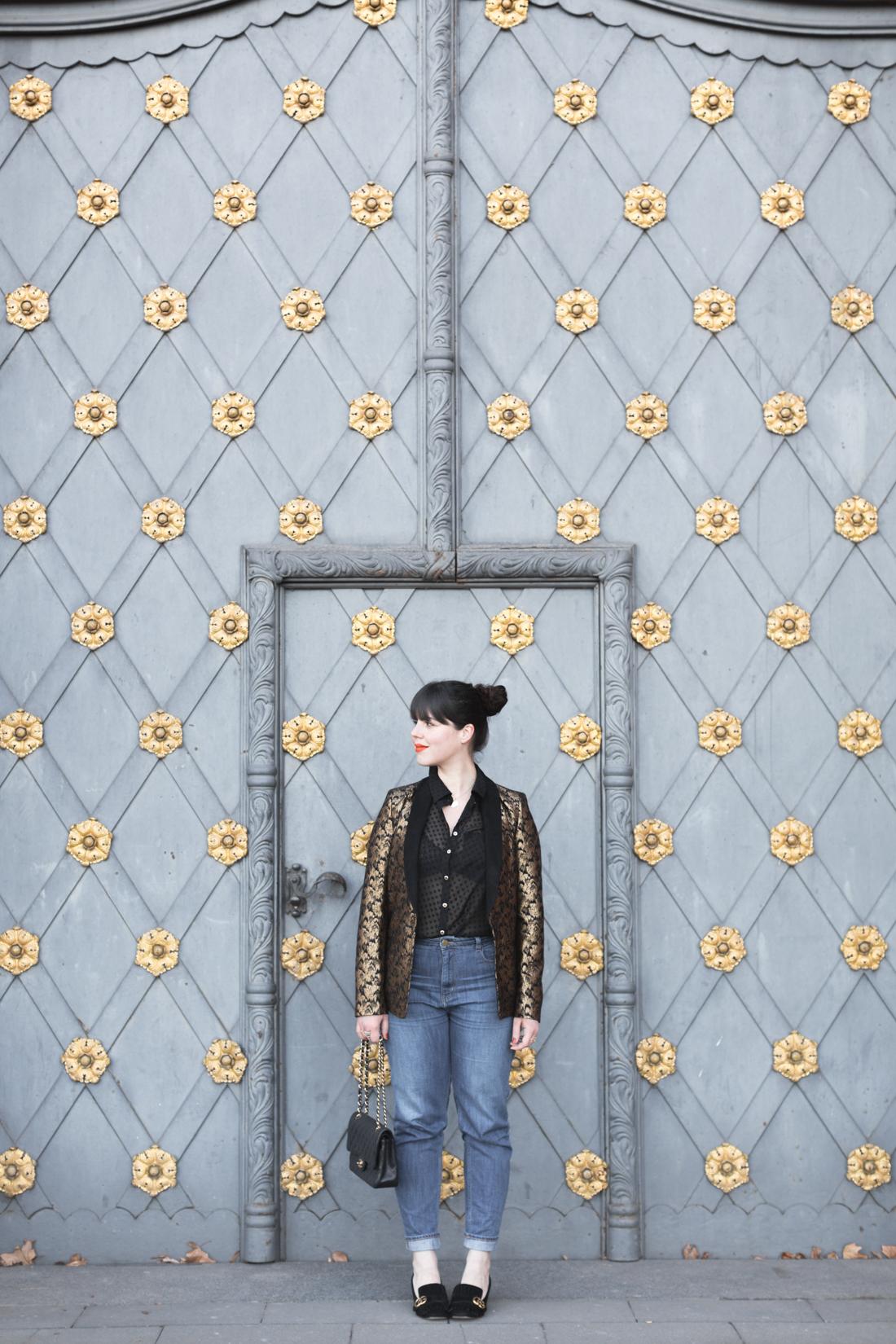 veste brando sezane denim 1958 mum jeans copyright paulinefashionblog com 3 Blue Black Gold