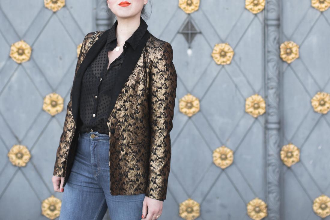 veste brando sezane denim 1958 mum jeans copyright paulinefashionblog com 9 Blue Black Gold