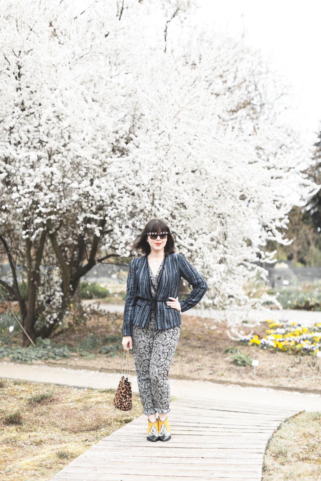ikks PE17 combipantalon combinaison veste boots bourse hope sezane copyright Pauline Privez paulinefashionblog com 7 Botanischer Garten